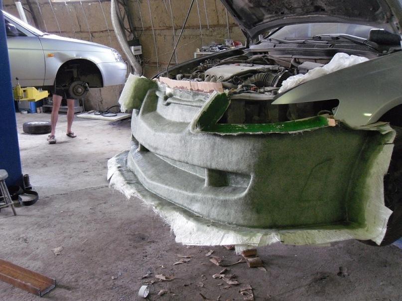 Ремонт пластикового обвеса автомобиля своими руками