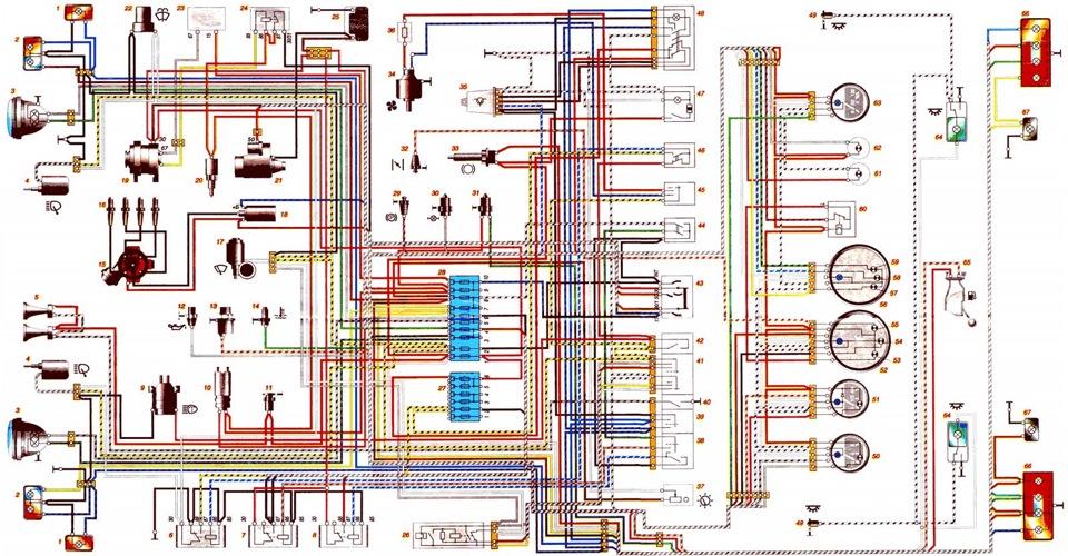 В - к выключателю наружного освещения; С - схема условной нумерации Электрическая схема автомобиля Шевроле Нива...