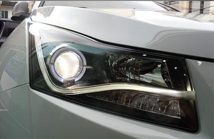 Передняя альтернативная оптика L-0019 на Chevrolet Cruze / альтернативная оптика Шевроле Круз выполнена в общем стиле...