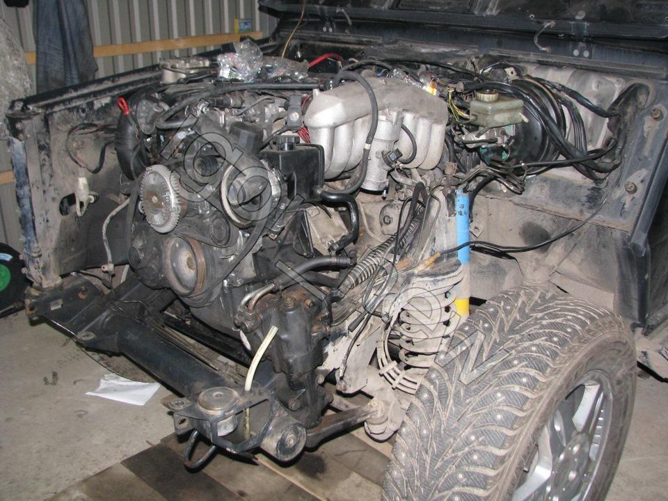 снятие двигателя ом613 мерседес