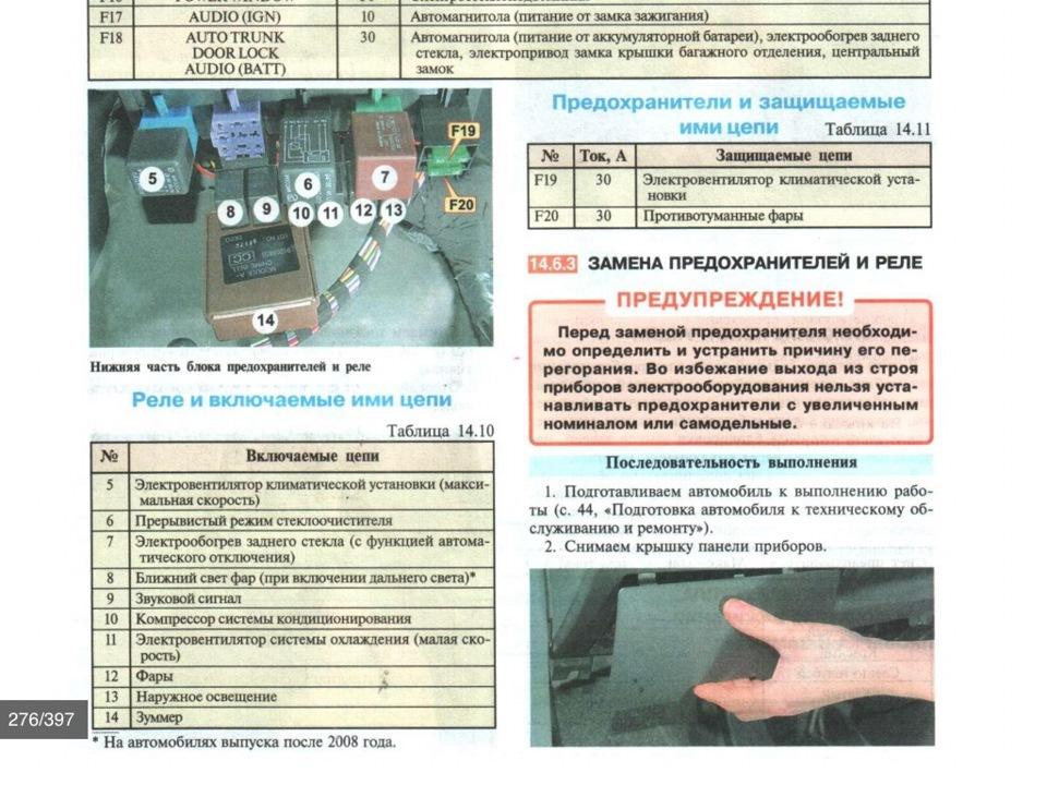 Схема предохранителей на нексии 2004 года