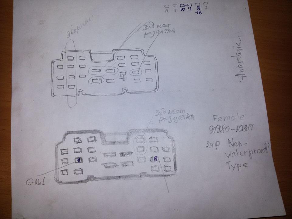 схема фишек в салонном отсеке.