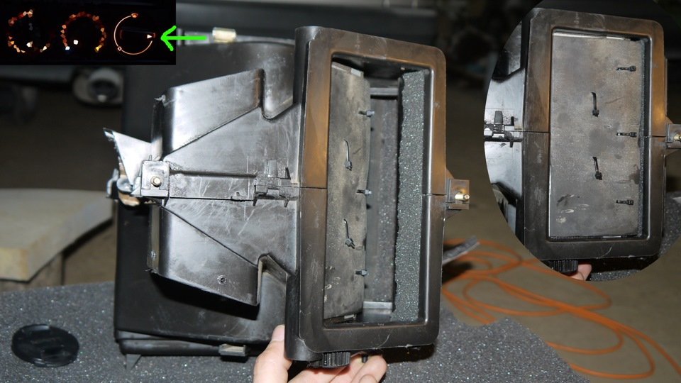 audi 80 b4 приводы заслонок системы отопления