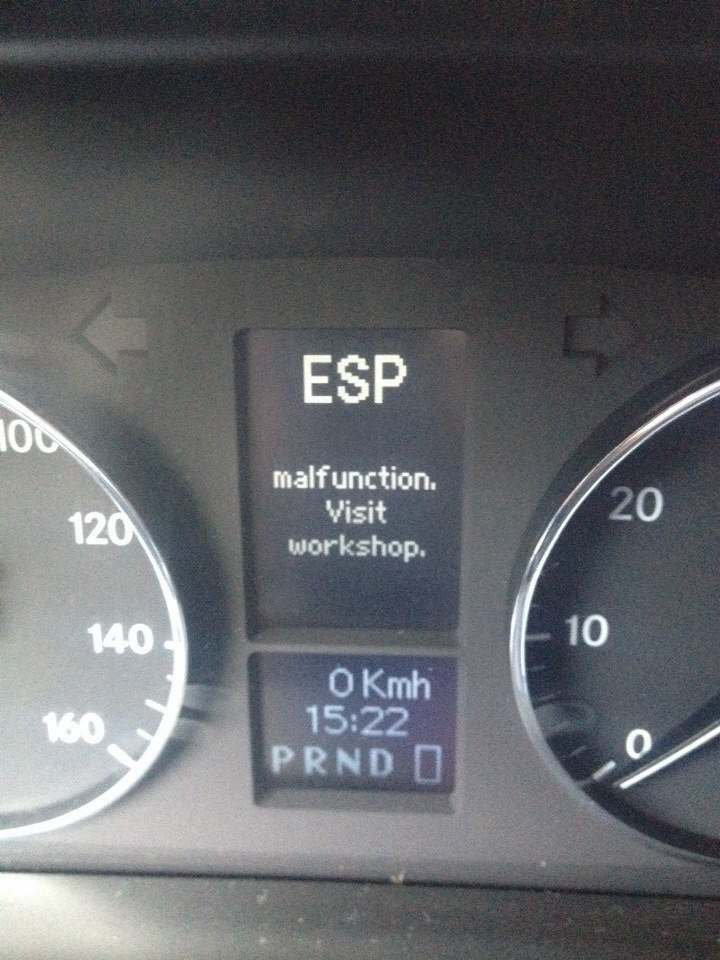 esp malfunction visit workshop