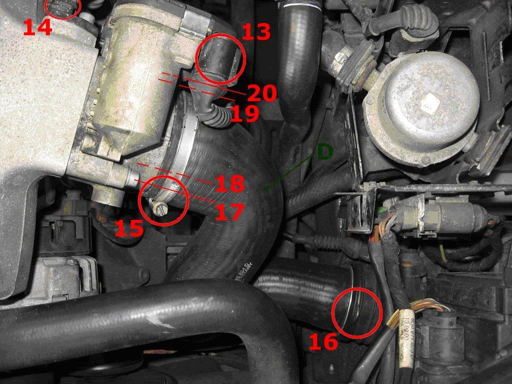 вентиляция картерных газов жор масла на audi a6 2.8 ack