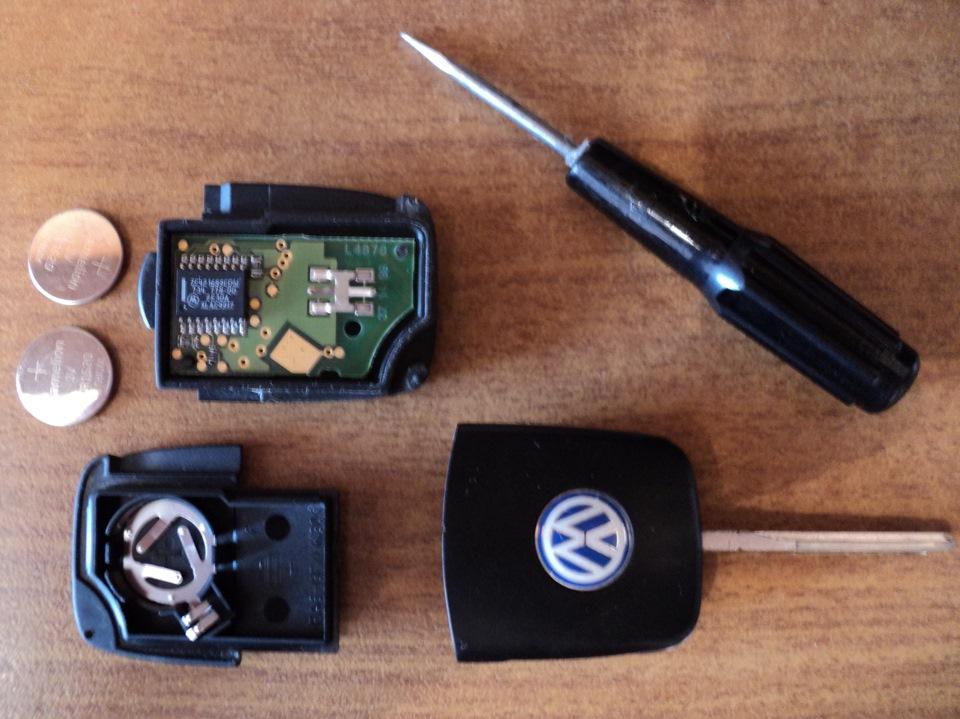 замена батарейки ключе фольксваген бора