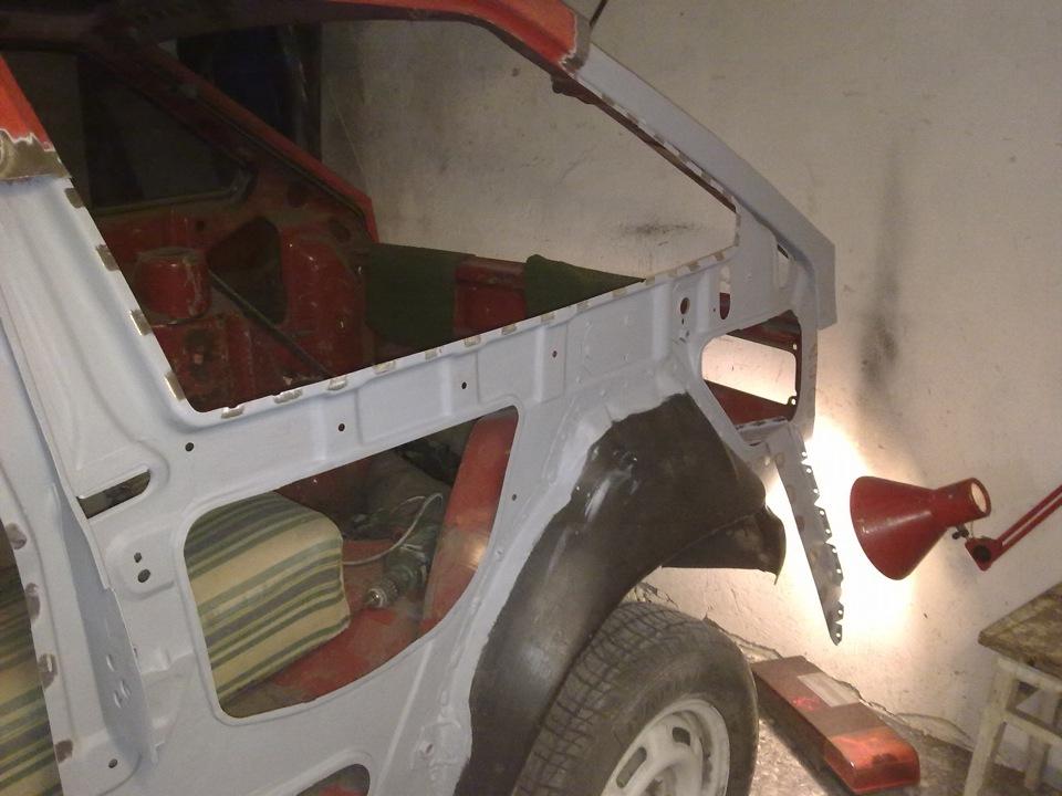 Левая боковина ВАЗ 2108. Замена Ч.3 - logbook Lada 2108 Ягодка-Малинка DRIVE2