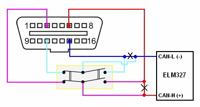 Схема obd can адаптера