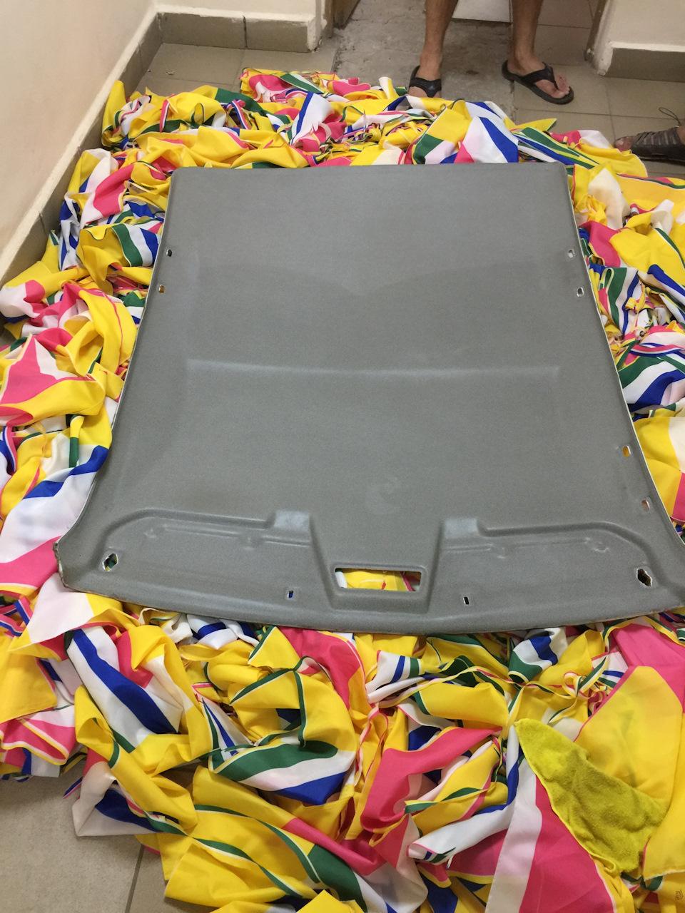 55aacees 960 - Чем можно покрасить потолок в машине