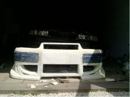 Фото №12 - тюнинг переднего бампера ВАЗ 2110 своими руками
