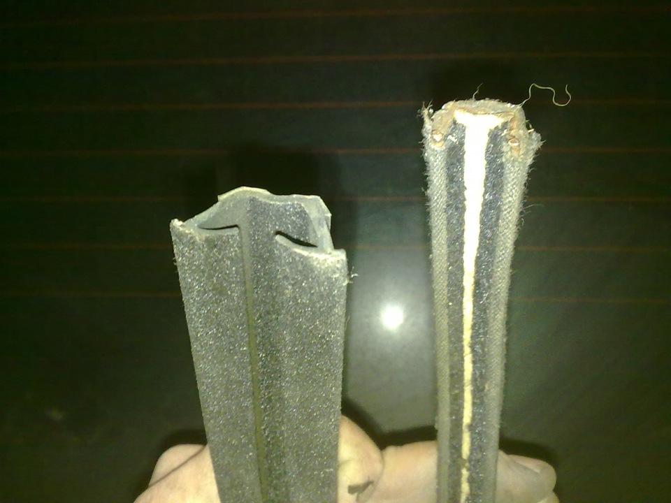 вздулись боковые уплотнители на стекла бархотки ситроен