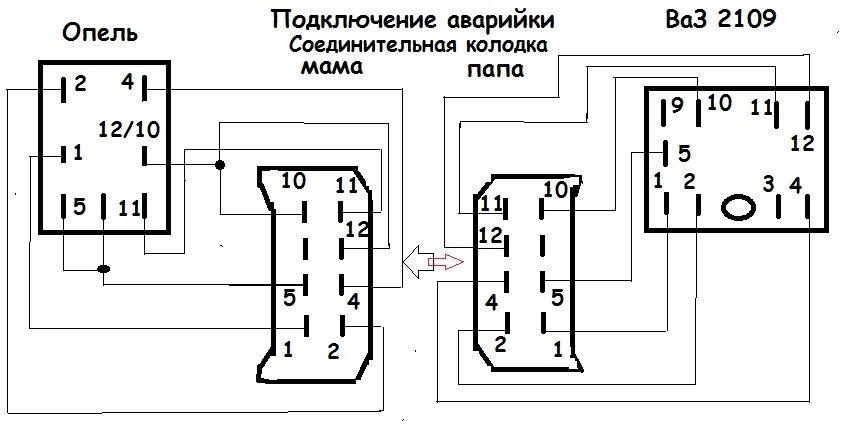 Схема 1. ВаЗ — Опель