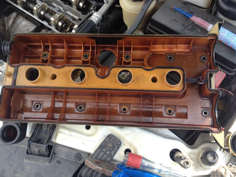 opel-antara снятие клапанной крышки