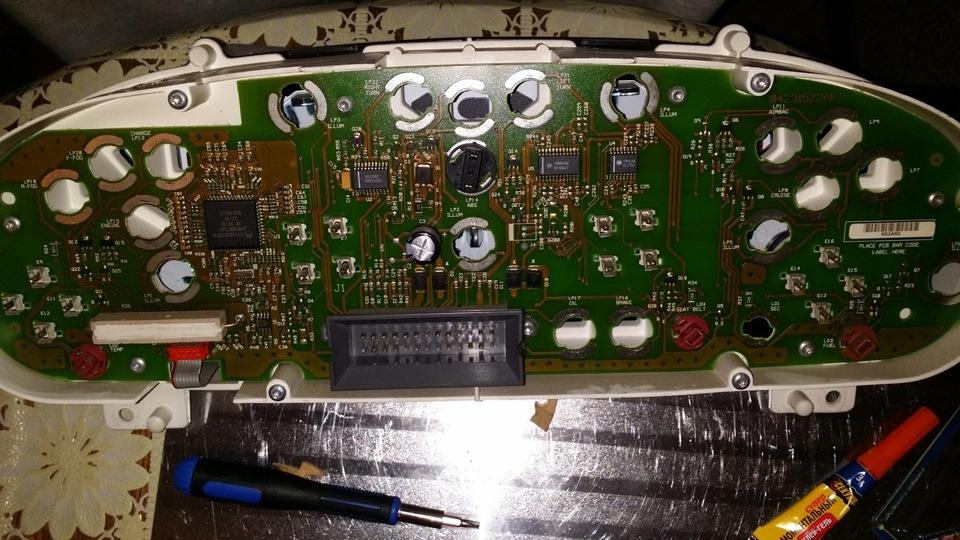 Поменять подсветку приборной панели