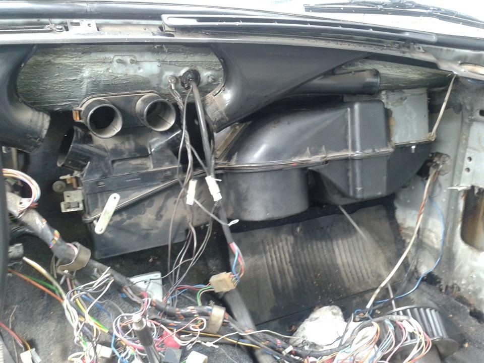 Замена радиатора отопителя на газ 3110
