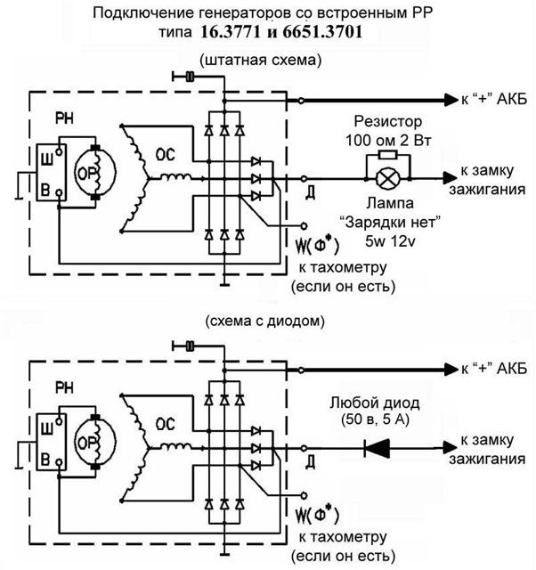 Схема подключения паз