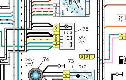 схема подключения панели опель вектра