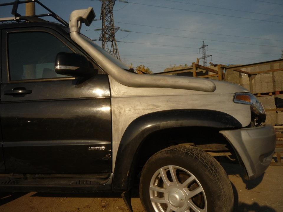 Стекло-пластиковый шноркель на УАЗ Патриот…установка - Proexpert на DRIVE2