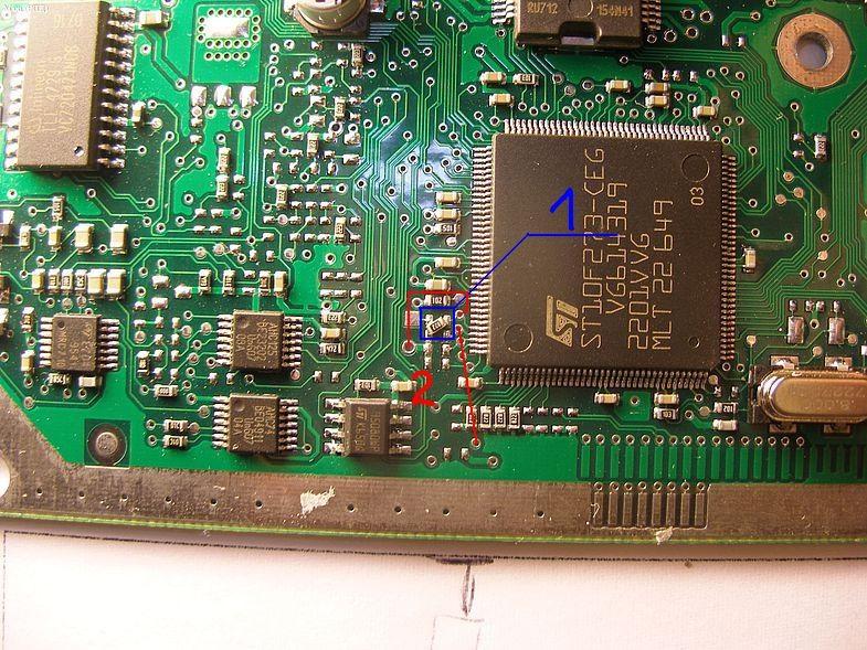 2-резисторы 1.8кОМ 1- если