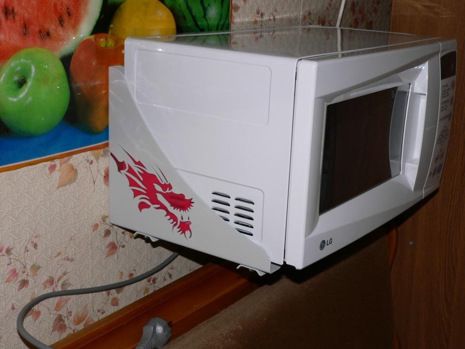 Полка под микроволновую печь своими руками