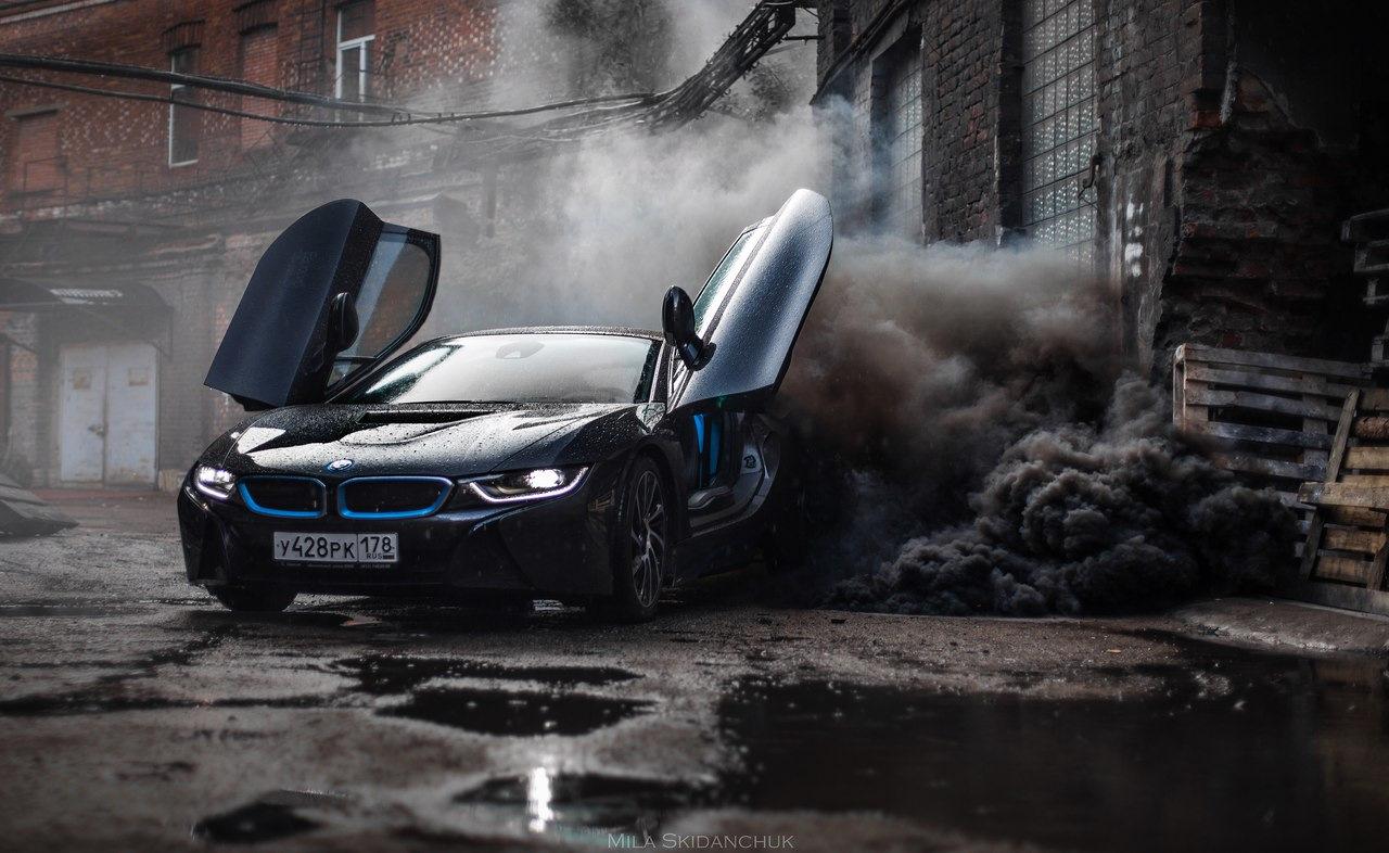 это была фото машины в дыму или щучье