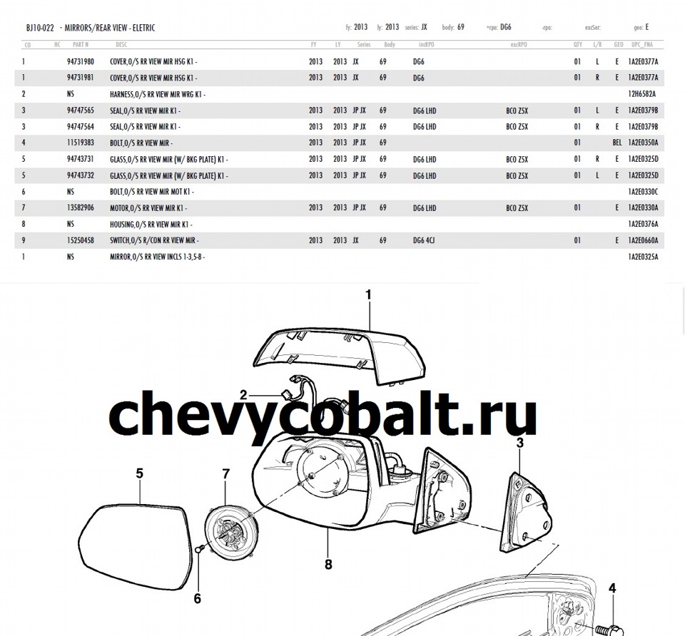 оригинальный каталог chevrolet онлайн