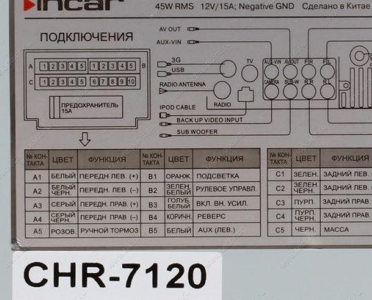 Incar Chr-7740 инструкция по установке - фото 6