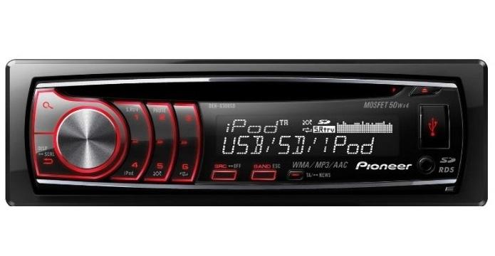 Автомагнитола Pioneer DEH-6310SD Типоразмер: 1 Din Форматы: MP3, WMA, AAC 4x50 Вт (MOSFET) USB FM тюнер, 24 станции.