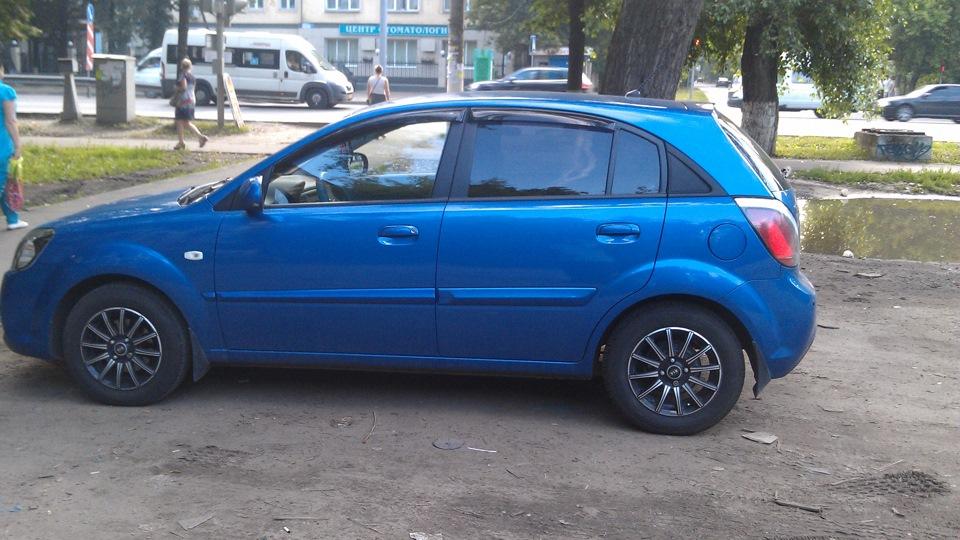 Киа рио синий сапфир фото