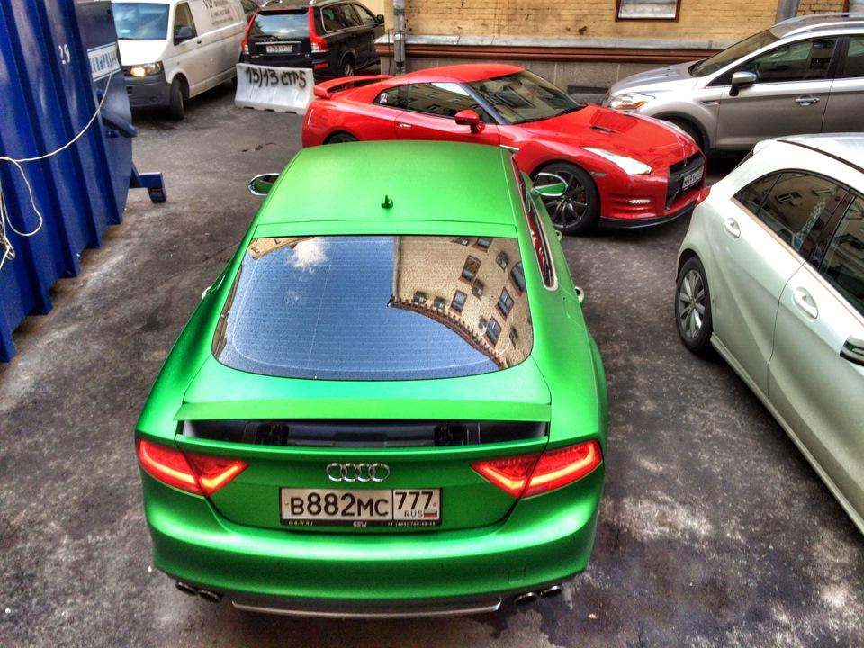 Gt R Vc Audi A7 Green Matt бортжурнал Nissan Gt R Irc 2014 года