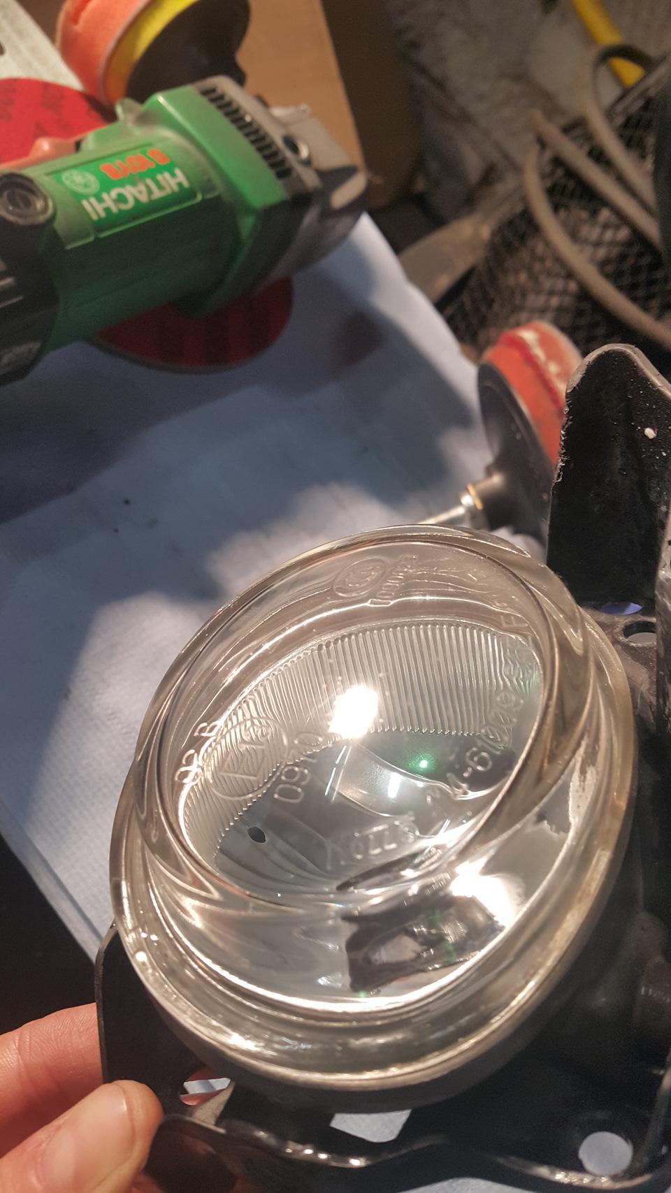 Отполировать стеклянные фары