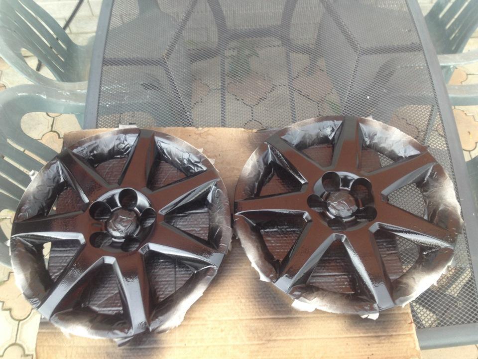 Как покрасить колесные колпаки своими руками 51