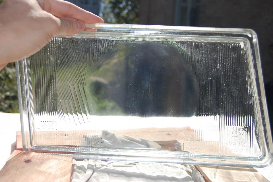Шлифовка стекла фары под линзу своими руками 71