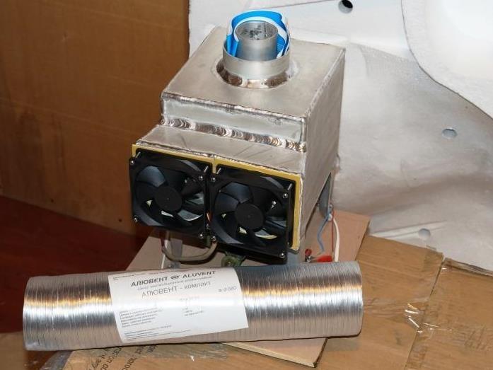 Печка с теплообменником для палатки Теплообменник Ридан НН 110 Ду 150 Северск