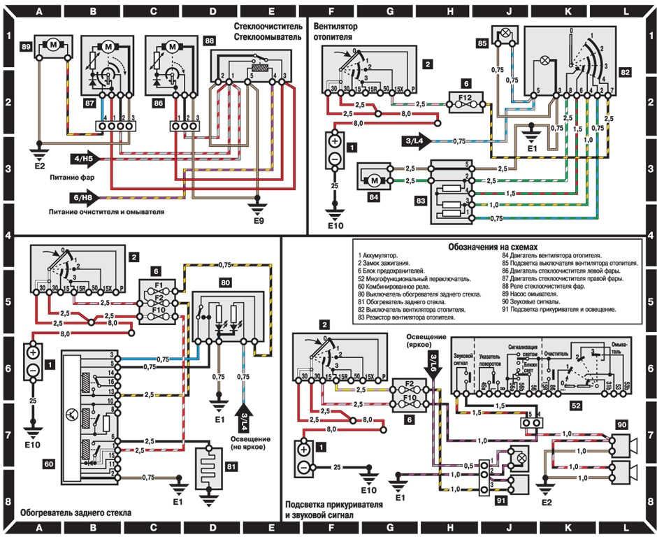 схема на Мерседес Бенц 124