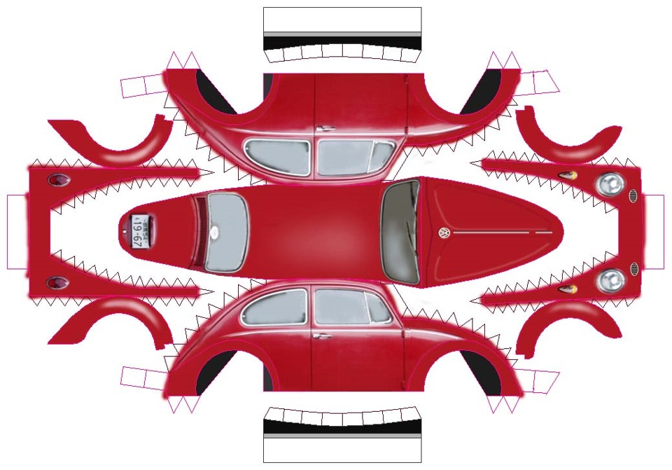 картинки макетов машин привязанная