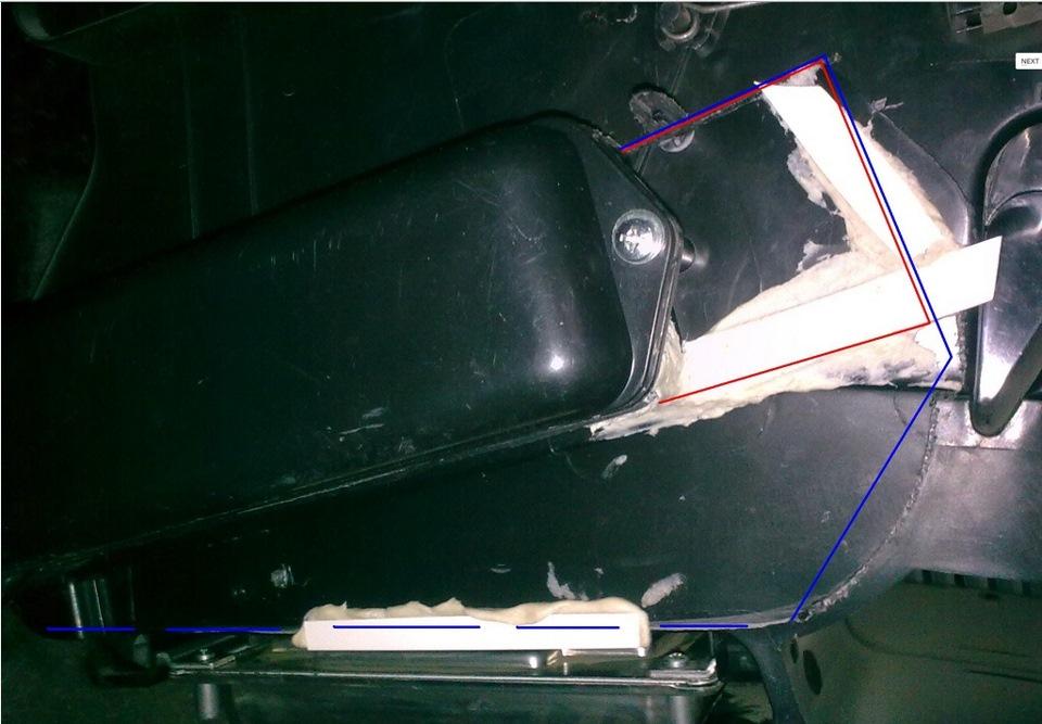 Замена радиатора печки на калине без снятия панели