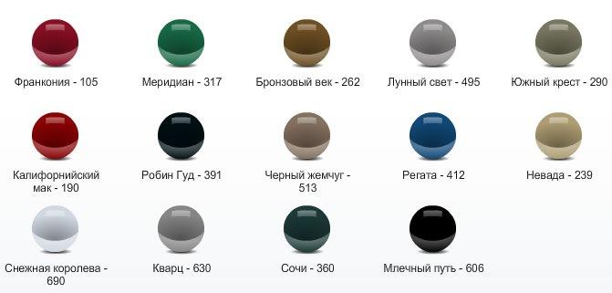 цвета автомобилей фото: