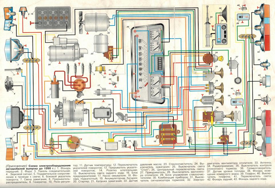 автомобиля москвич схема 412 электрическая