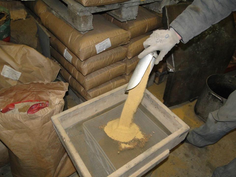 как просеять песок для пескоструя