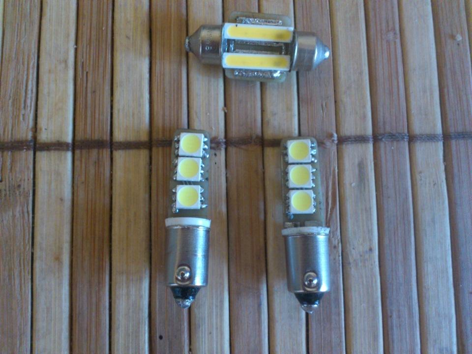 Светодиодные лампы на авто своими руками