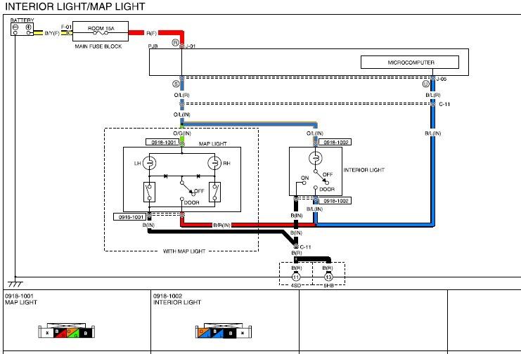 Мазда 3 схема освещения