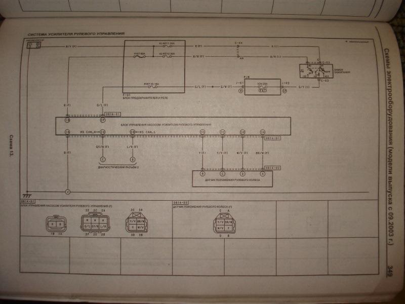 Схема подключения ЭГУР мазда