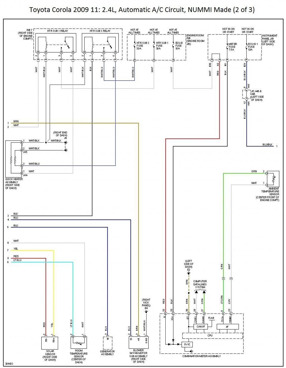 Toyota corolla схема электрическая