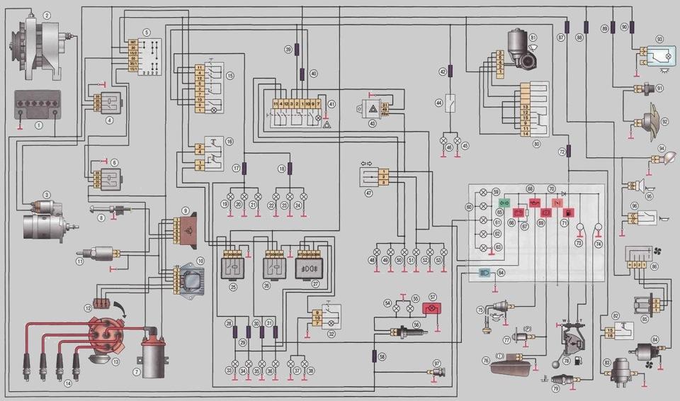 Схема подключение генератора на заз 110206