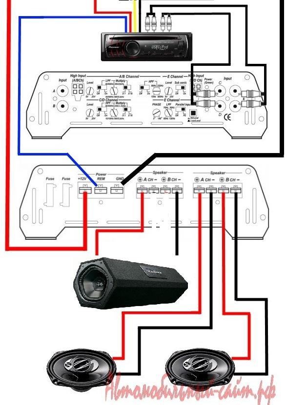 Схема подключения усилителя 4 канального