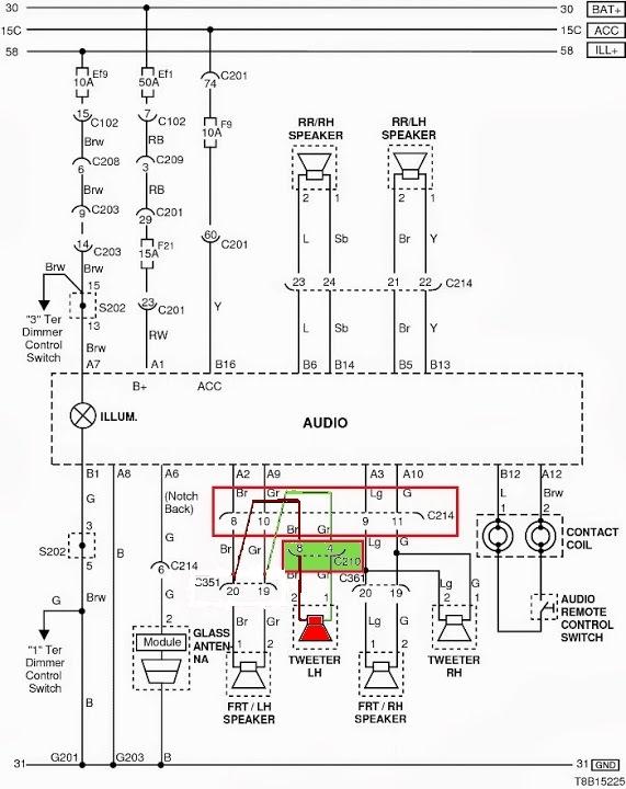схема АУДИО системы АВЕО
