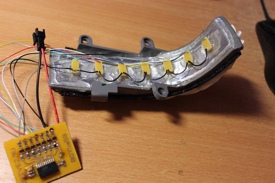 Светодиоды в поворотники своими руками