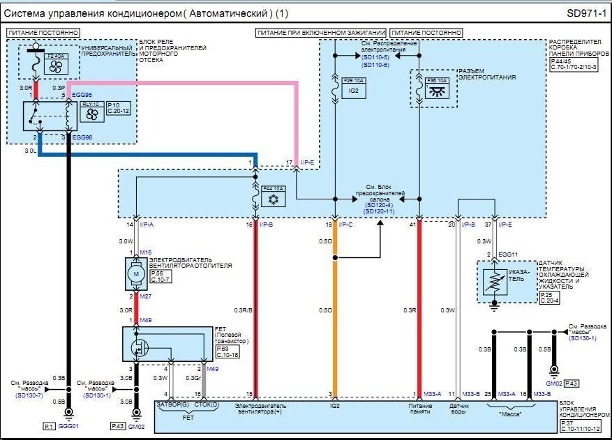 Схема климат контроль ауди 115