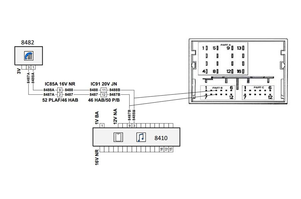 схема подключения магнитолы в citroen c4